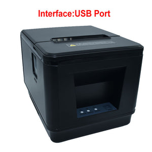 New arrived 80mm auto cutter thermal receipt printer POS printer USB or LAN port  for Kitchen/Restaurant printer POS printer