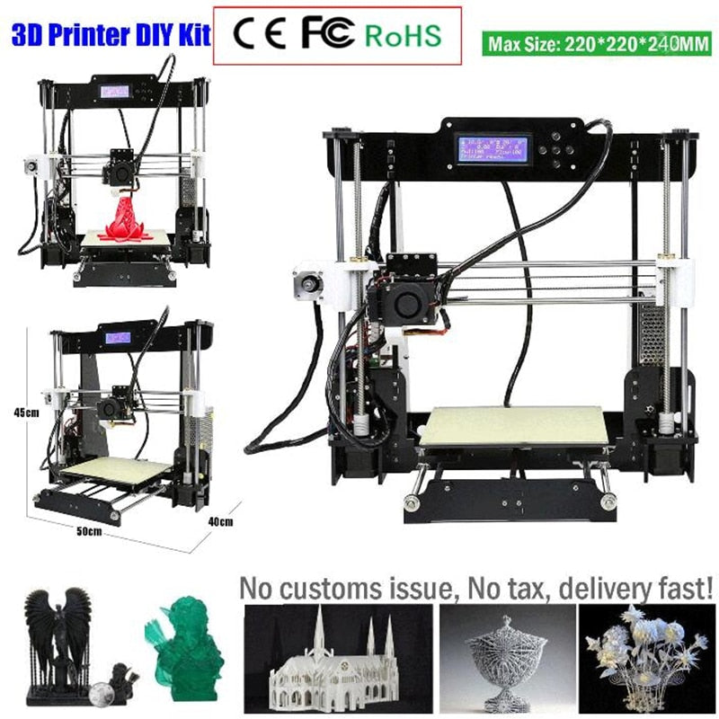 ctc W5 3D Printer Reprap Prusa i3 DIY MK8 LCD printer 3d Drucker Impressora Imprimante Resume Power Failure Printing