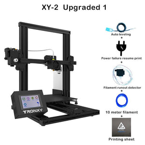 Newest Tronxy XY-2 3D Printer Heat bed Build Surface Platform 220*220mm 3D Continuation Print Power FDM 3d Printing PLA Filament