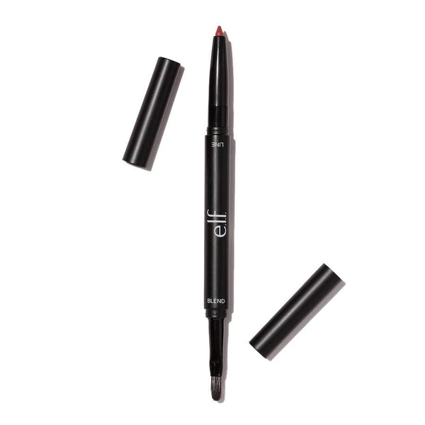 Lip Liner & Blending Brush - Dark Red