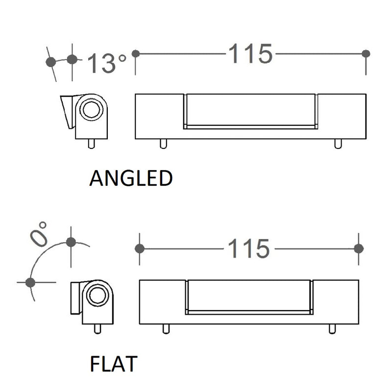 uPVC Door Butt Hinge - 115mm