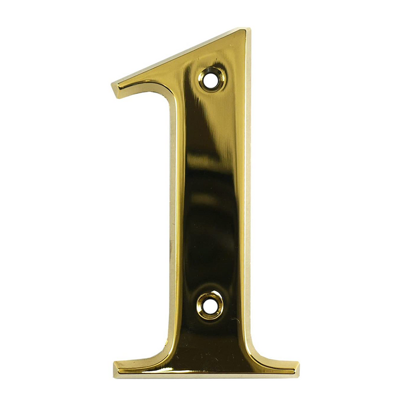 House Door Numerals Numbers - Gold Number 1