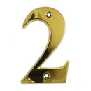 House Door Numerals Numbers - Gold Number 2