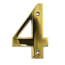 House Door Numerals Numbers - Gold Number 4