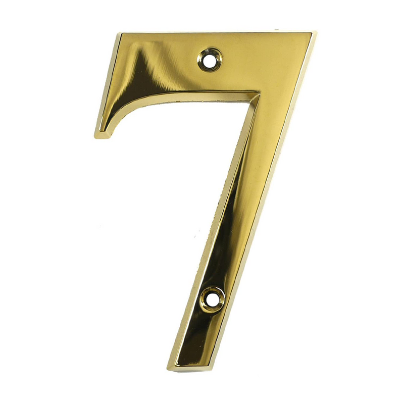 House Door Numerals Numbers - Gold Number 7
