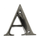 House Door Letters - Chrome Letter A