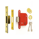 ERA Fortress 5 Lever Mortice Deadlock (British Standard) - Brass