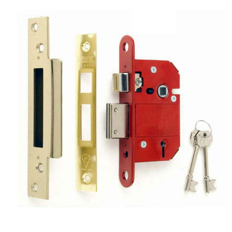 ERA Fortress 5 Lever Mortice Sashlock (British Standard) - Brass