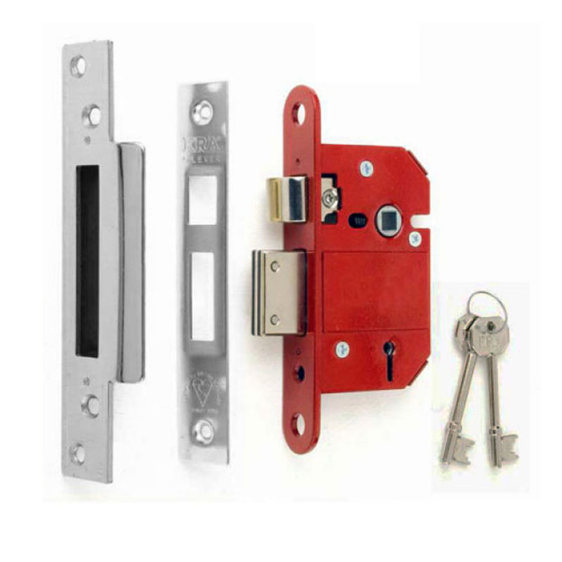ERA Fortress 5 Lever Mortice Sashlock (British Standard) - Satin Chrome
