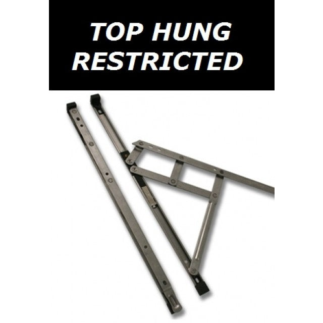 Security Restricted Window Hinges Friction Stay Top Hung - 24 Inch