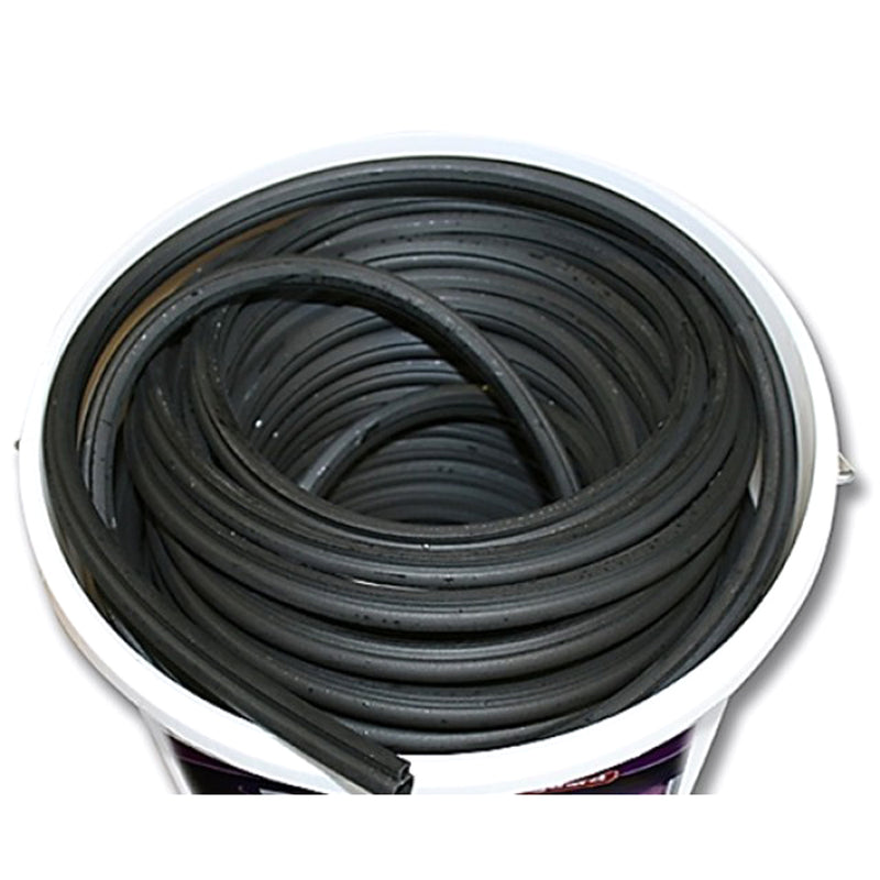 Rubber Door And Window Seal Bubble Gasket - Black - R6064X (Per Meter)