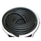Rubber Door And Window Seal Bubble Gasket - Black - R6598 (Per Meter)