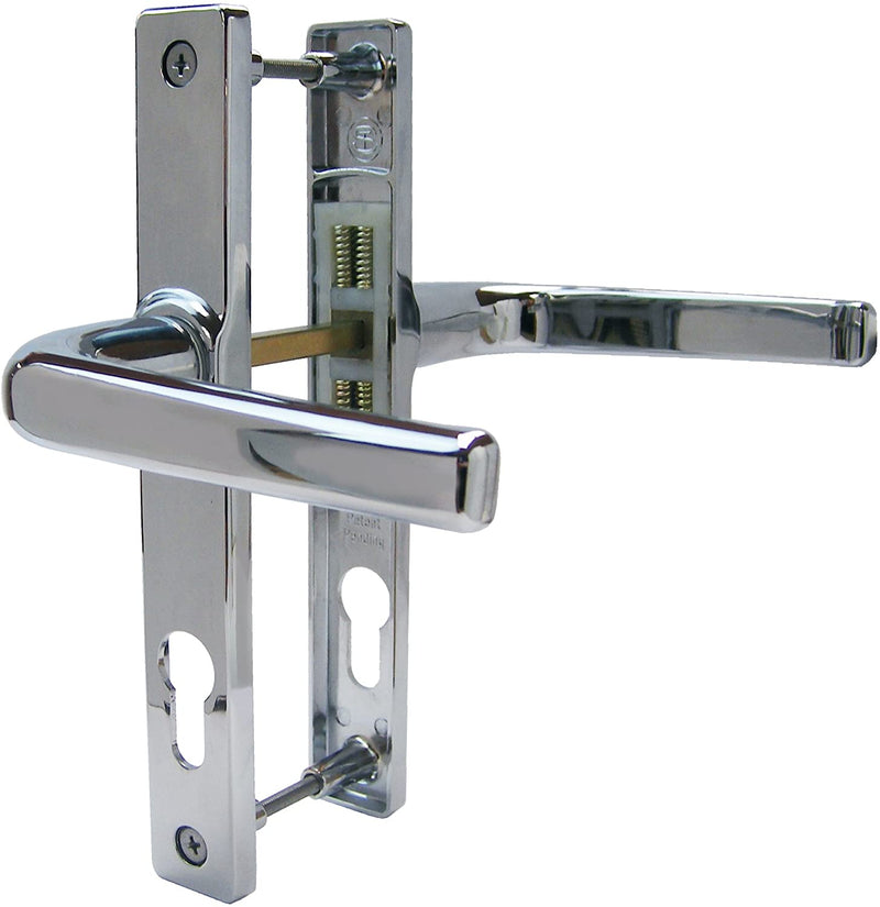UPVC Door Handles - 70PZ 180mm Screws (Sprung) - Chrome
