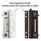UPVC Butt Door Hinge 100mm