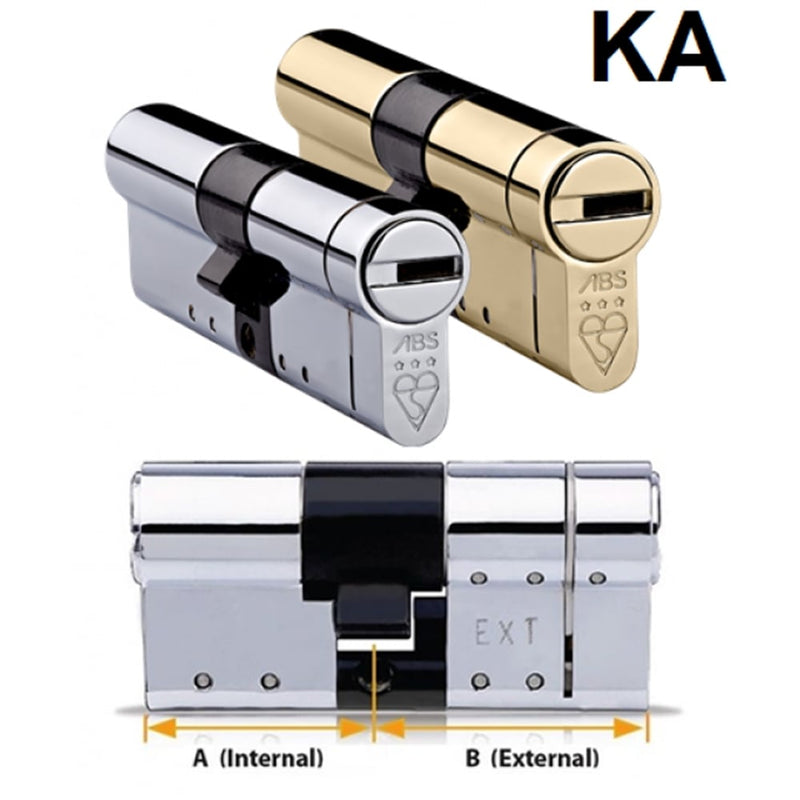 Avocet ABS High Security Euro Cylinder - Anti Snap Lock - TS007 3 Star (Keyed Alike)
