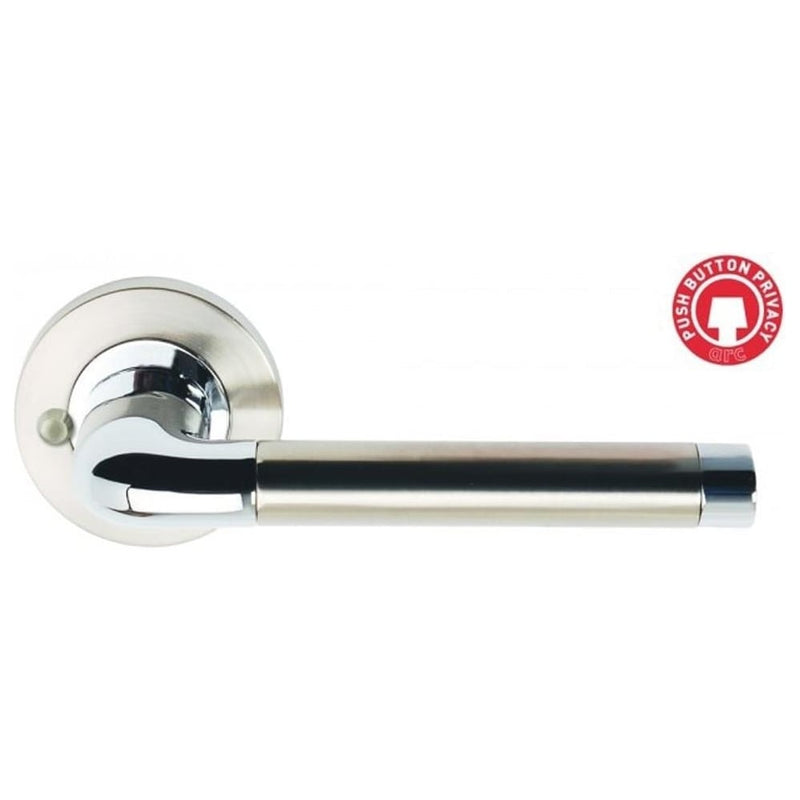 Lever On Rose Designer Handles Satin Nickel Polished Chrome 3670-PRV