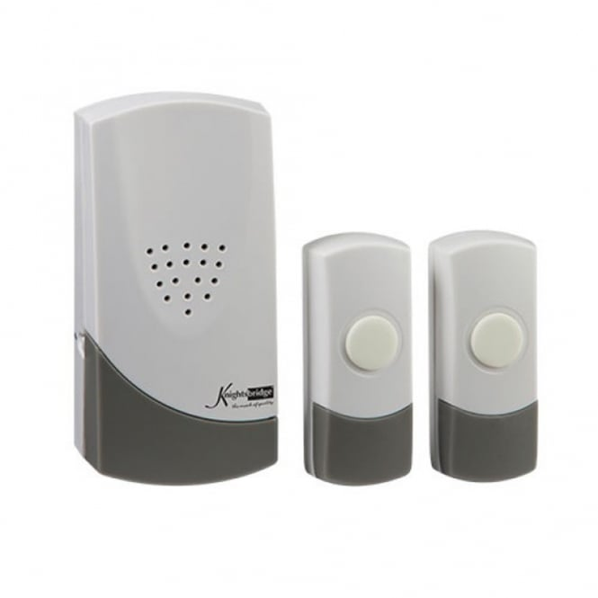 White Wireless Dual Entrance Door Chime Kit (100m range)