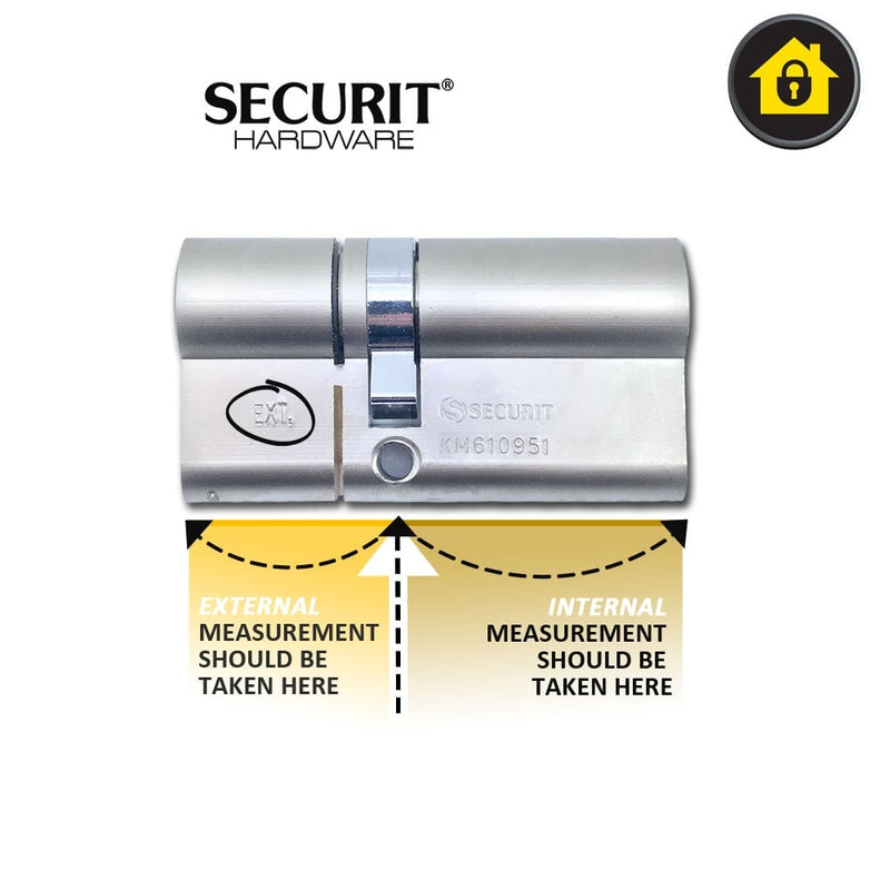 SECURIT Thumb Turn 3 Star High Security Anti Snap Euro Cylinder Door Lock