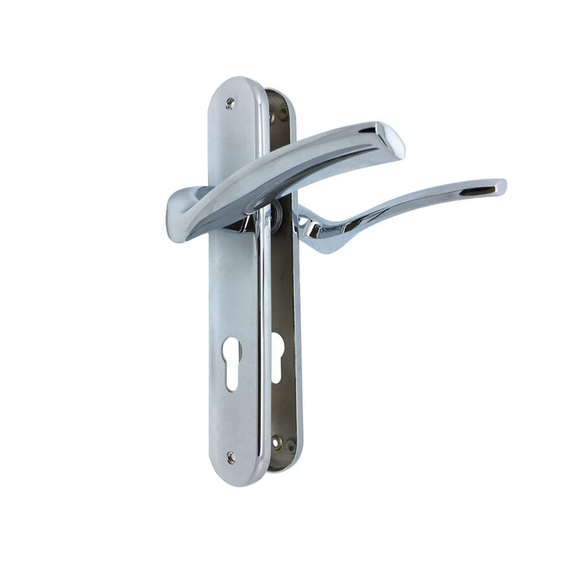 UCEM 85mm Upvc Door Handles Lever Lever Chrome