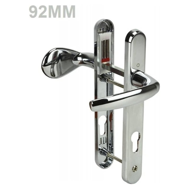 UPVC Door Handles - Lever Pad - D47 - Chrome