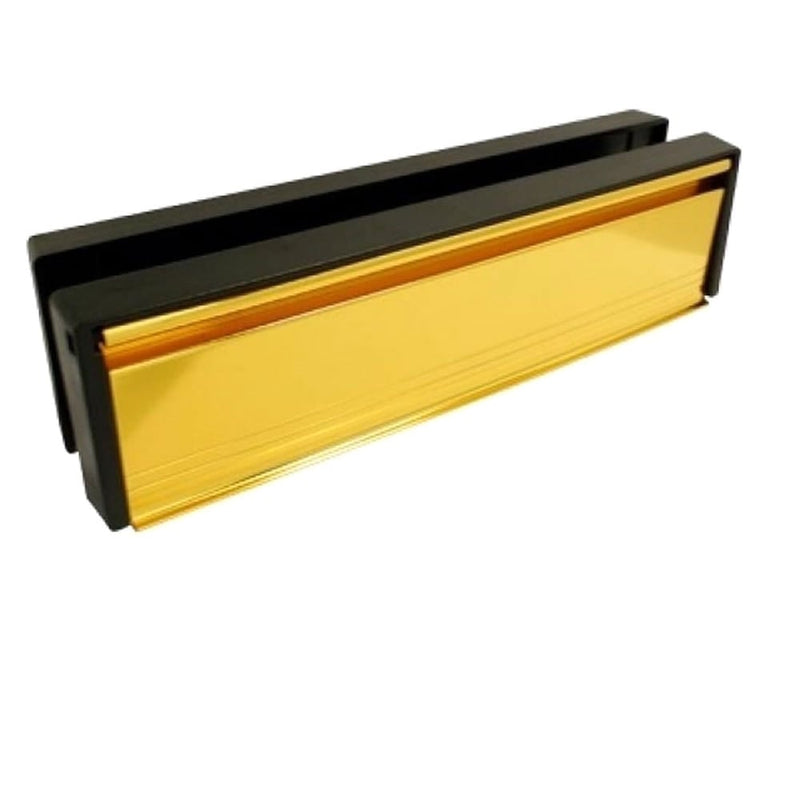 UPVC Door Letterbox Anti Snap - Gold (Anodised)