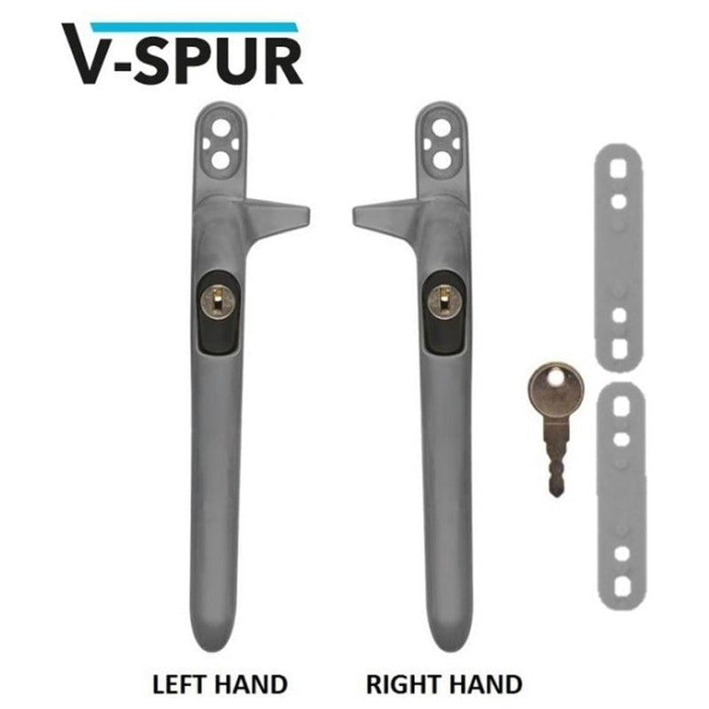 VERSA Cockspur Repair uPVC Window Handle. Universal Size - Satin Chrome
