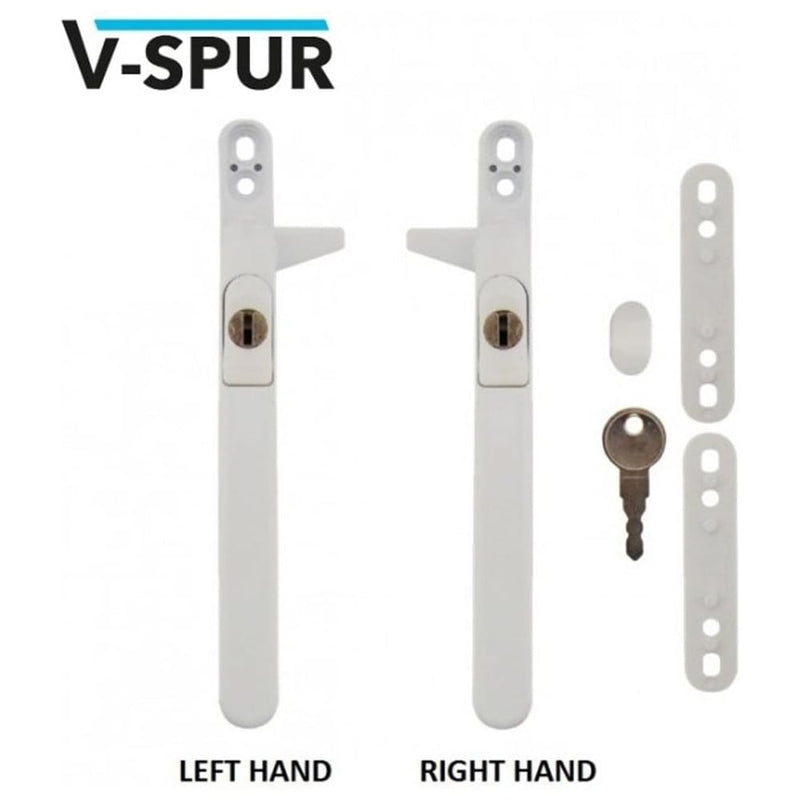 VERSA Cockspur Repair uPVC Window Handle. Universal Size - White