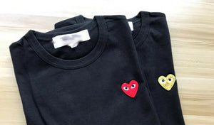 CDG Embroidered Heart Tee