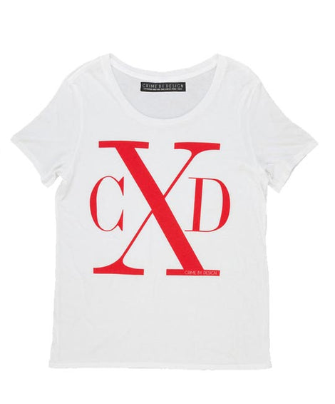 Men's Red on White - CXD T-Shirt