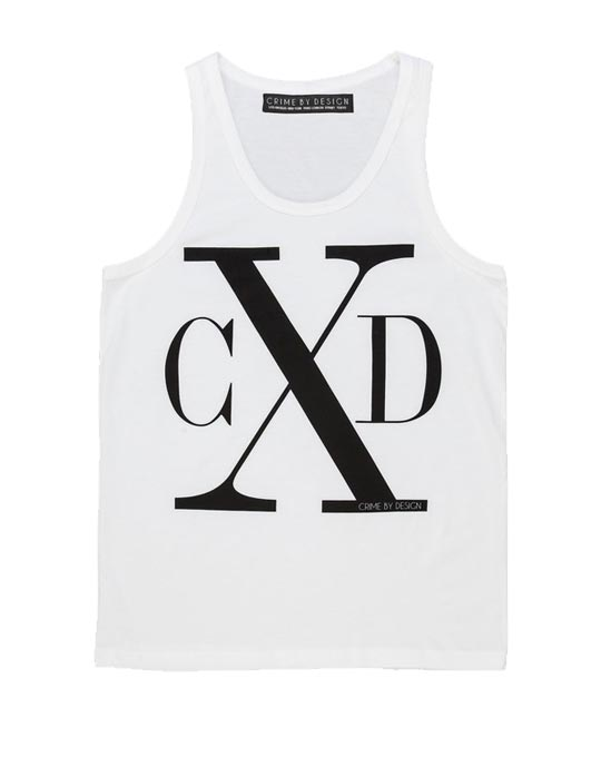 Men's Black on White - CXD Tank
