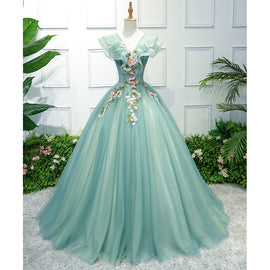 Party Art Performance Stage Solo Costume Chorus Dress Embroidered Dames Couture Noble Elegant Gown Birthday