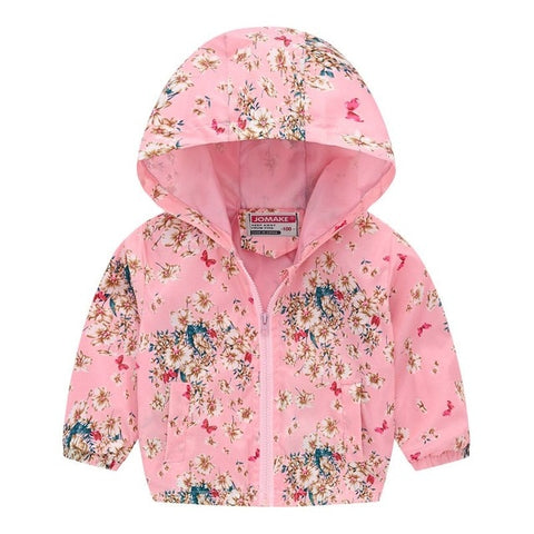 2019 Kids Clothes Boys Jackets Children Hooded Zipper Windbreaker Baby Fashion Print Coat Infant Waterproof Hoodies For Girls