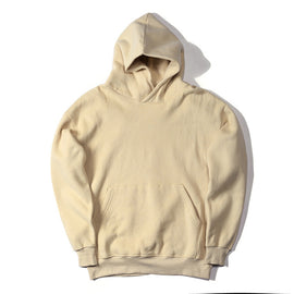 New Streetwear Pullovers Drake Kanye West Plain  Fleece Oversized Hoodie Kpop Clothes Tracksuit Hoodies Men Hip Hop