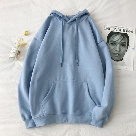 Privathinker Woman's Solid 13 Colors Korean Hooded Sweatshirts Female 2019 Cotton Thicken Warm Hoodies Lady Autumn Fashion Tops