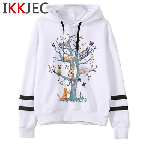 Cat Kawaii Harajuku Funny Cartoon Hoodies Women/men Cute Kill Me Meow Aesthetic Sweatshirts Fashion Strretwear Hoody Female/male