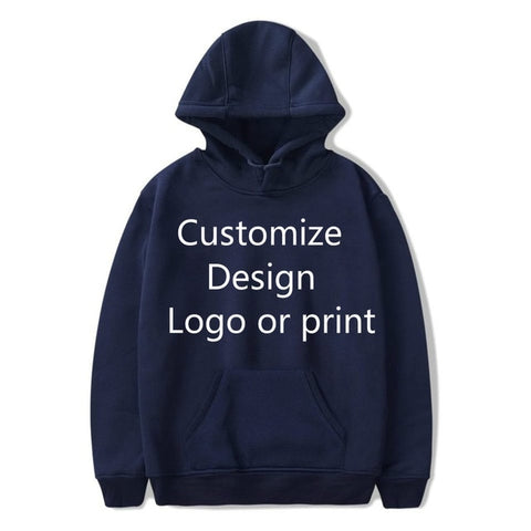 Solid Color DIY Hoodies Men/Women Your Own Design Customize Logo Text Image Sweatshirt Get together Travel Couple Love Clothes