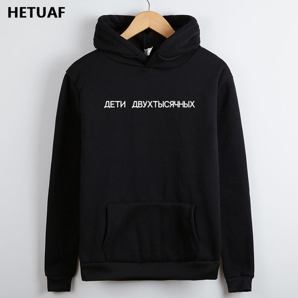 HETUAF Russian Letter Hoodies Women Sweatshirts Ladies Fashion Harajuku Hoodie Women 2018 Female Long Sleeve Women's Sweatshirt