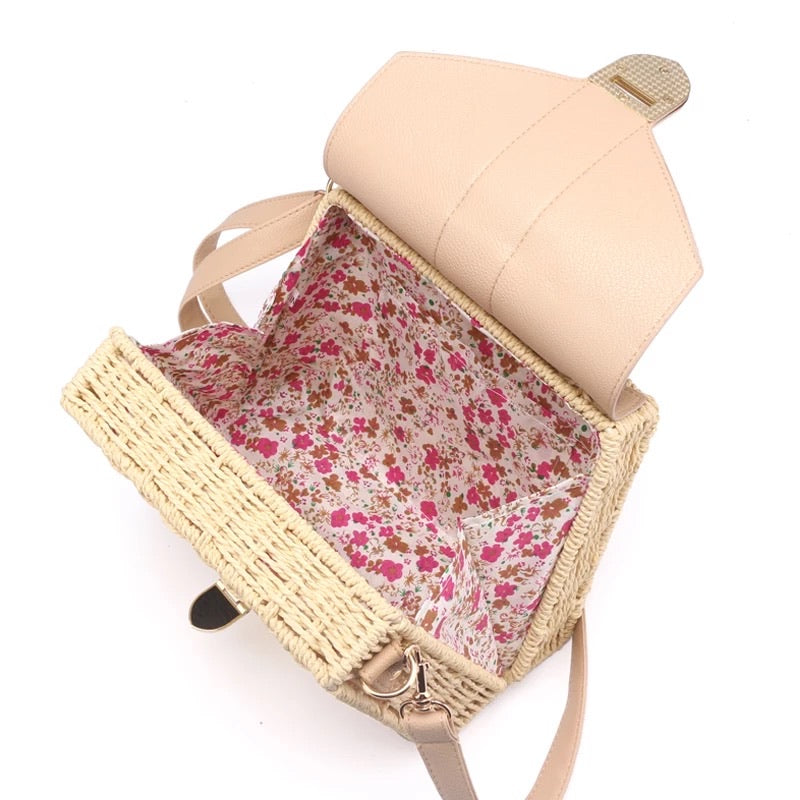 RATTAN & LEATHER BAG