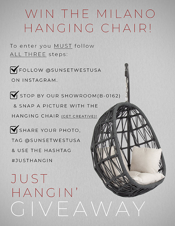 Win the Milano Hanging Chair!