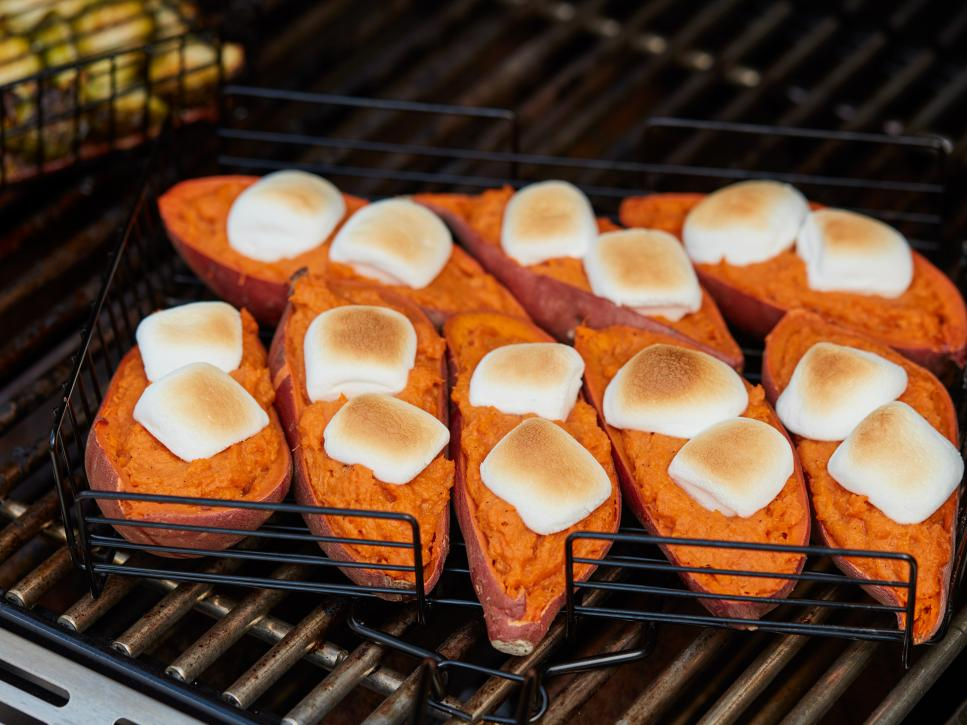 roasting sweet potatoes on grill
