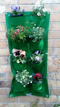 Load image into Gallery viewer, Bloombagz vertical garden, herb planter or wall hanging storage solution made out of recycled bottles
