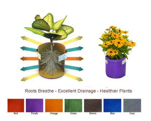 Garden care made easy with Bloombagz herb, shrub and flower planter with option to hang. Use indoor or outside gardens for lush plants all year round. Perfect landscape gardening for small spaces. Can also be used as a storage solution. Environmentally friendly made out of 100% recycled materials. Promotes growth of healthy roots and happy plants.