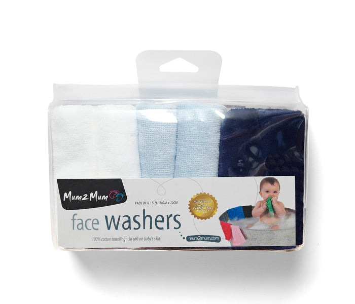 Mum 2 Mum face washer 6 pack.