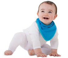 Load image into Gallery viewer, The Mum 2 Mum bandana wonder bib is ideal for babies who drool. 100% cotton towelling is very absorbent. The close-fitting neck means there are no leaks. The bright colours are appealing to both parents and infants. This bandana wonder bib is the perfect baby shower or newborn gift