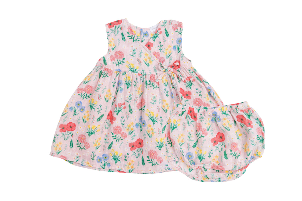 Summer Floral Kimono Dress & Diaper Cover