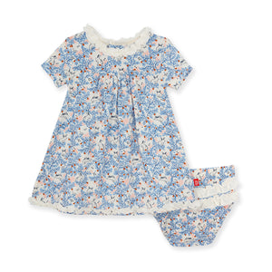 Somebunny Floral Modal Dress & Diaper Cover