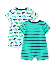 Load image into Gallery viewer, Whale 2PK Romper Set