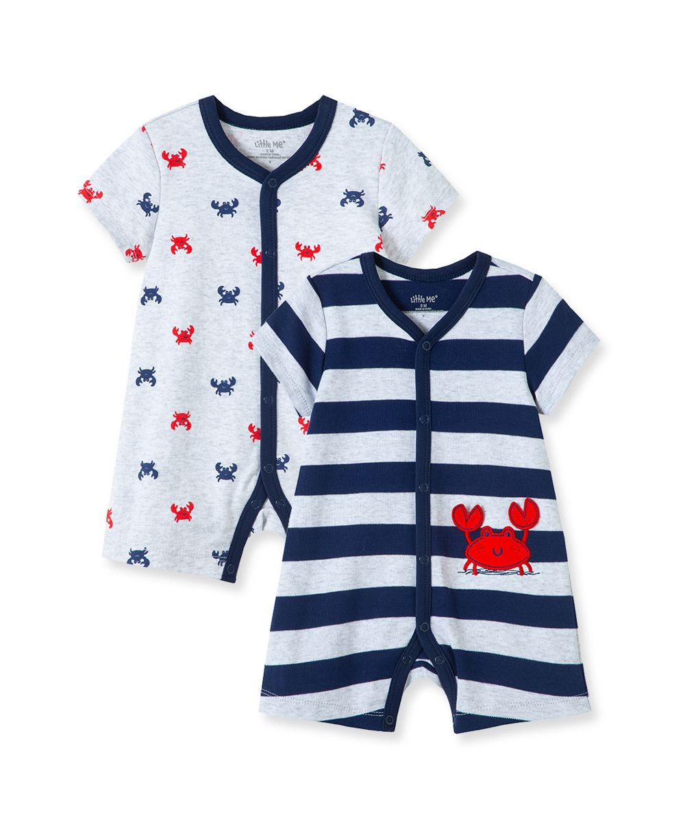 Crab 2PK Romper Set