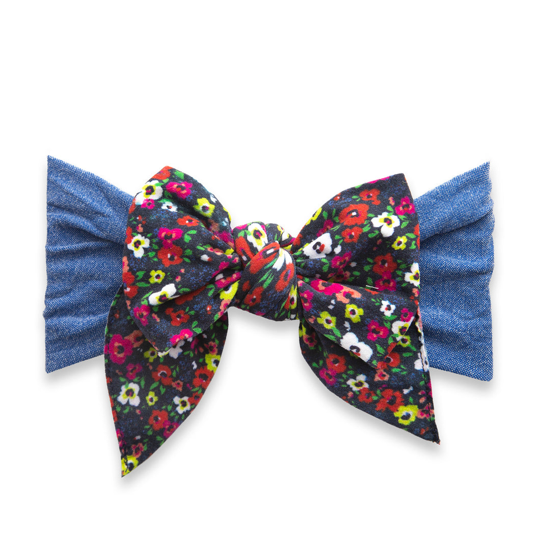 Baby Bling Enormous Bow: Vibrant Ditsy