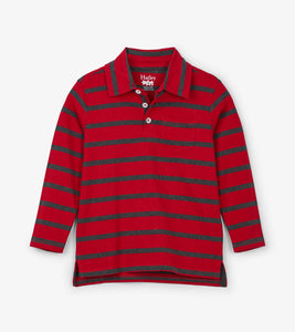Hatley Red Stripe L/S Polo Tee